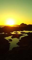 vancouver island sonnenuntergang