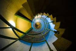 spiral staircase, one