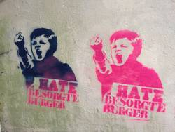 Graffiti against Besorgte Bürger