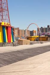 NYC - Luna Park Coney Island - Three Benches
