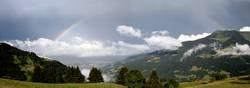 Regenbogen im Wallis (Panorama)