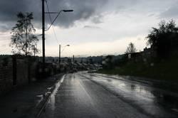 nach dem Regenschauer