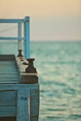 Pier und Meerblick