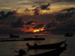 Sonnenuntergang am Strand III