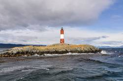 End of the world lightouse on the Beagle Channel, Argentina