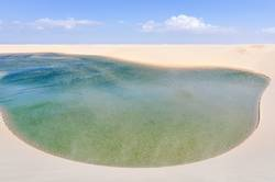 Green Lagoon in Lencois Maranheses National Park, Brazil