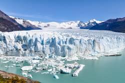 Frontal view of Perito Moreno Glacier, Argentina