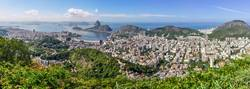 Panoramic view of Rio de Janeiro from above, Brazil