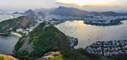 Panoramic view of Rio de Janeiro at sunset, Brazil