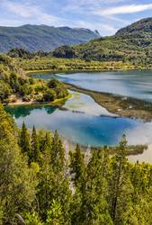 View of Lago Menendez in the Alerces National Park, Argentina