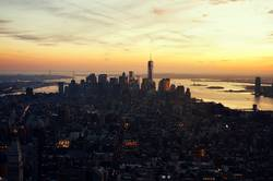 View over New York City from Empire State Building