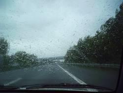 A1 im Regen