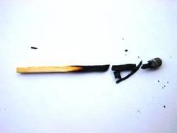 Broken matchstick
