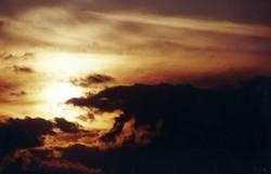 Abendwolken über der Nordsee