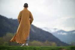 Shaolin Mönch im Wind