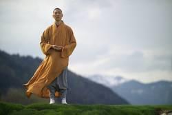 Shaolin Mönch im Wind - das Gesicht