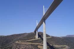 Brücke bei Millau/Cevennen/Südfrankreich