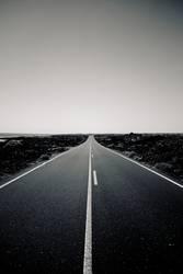 Road to Punta Mujeres (BW)