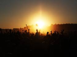 sundown at open air festival