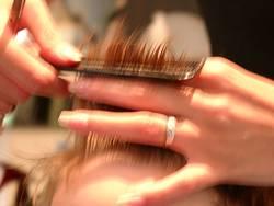 Besuch beim Friseur