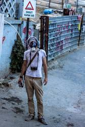 Gezi Park Demonstrant Gasmask Photographer Documentator