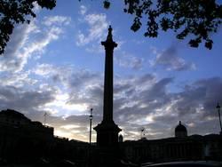 Trafalgar Square im Gegenlicht