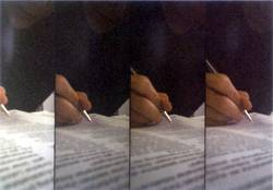 Schreibende Hand