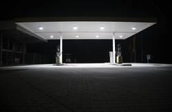 nacht tankstelle