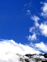 Berge im Wolkenkranz