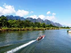Nam Xong Fluss in Vang Vieng