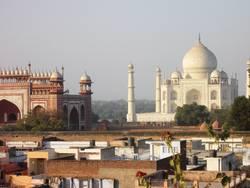 Blick auf das Taj Mahal
