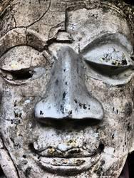 Buddhakopf aus Stein in Chiang Mai