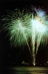 Feuerwerk grünblau