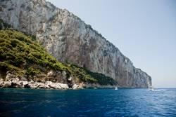 Felswand, Capri, Mittelmeer