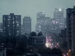 Rainy night in Vancouver