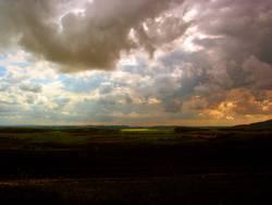 Landschaft am Abend
