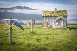 Alte Fischerhütte in Norwegen