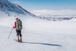 Fernweh, Skifahrer mit perfekten Bedingungen