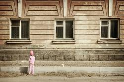child and house