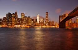Lower Manhattan by night, New York City