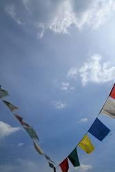 tibetische Gebetsfahnen die zweite