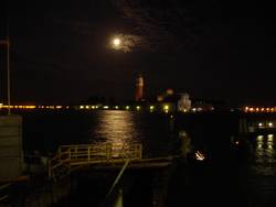 Vollmond-Baustelle in Venedig