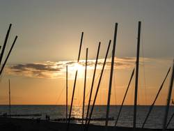 Sonne und Boote