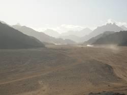 Wüste Ägyptens im Winter