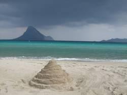 Schatten der Sandburg
