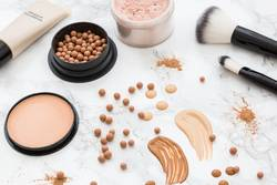 Make-up cosmetic products from above