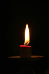 Kerze naht dem Ende