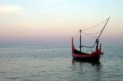Fischerboot in Bali