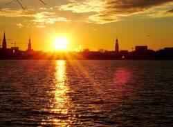 Sonne über Hamburg