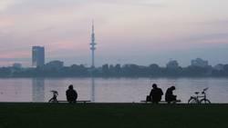 Hamburg zur blauen Stunde